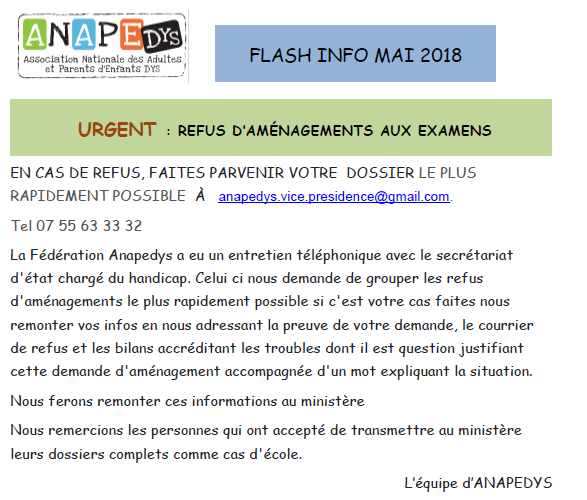 flash info mai 2018 partie 1